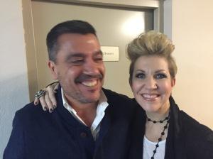 El autor del artículo con Joyce DiDonato después de la representación de Alcina - noviembre 2014