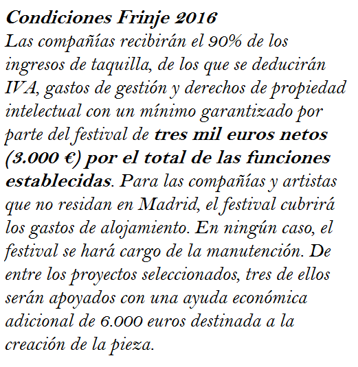 gastos Frinje 2016